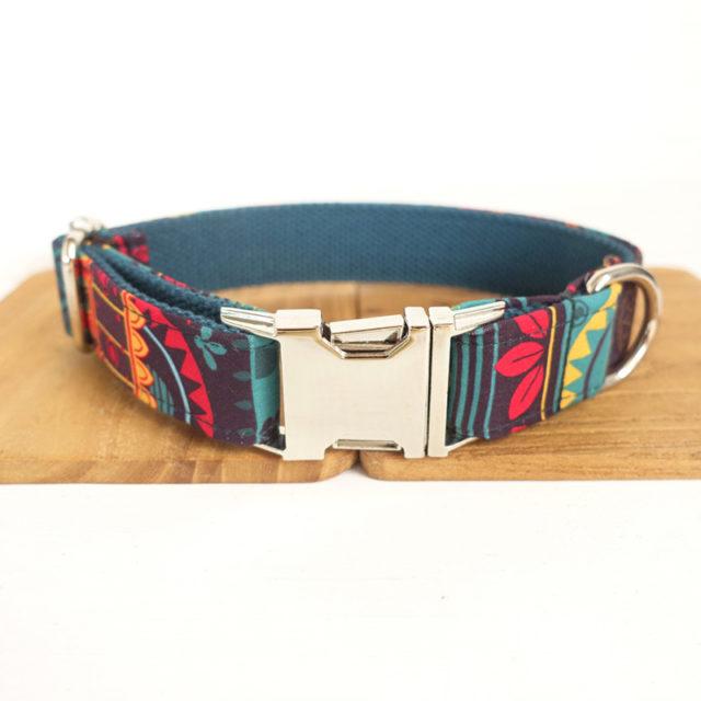Leaves Patterned Dog Collar