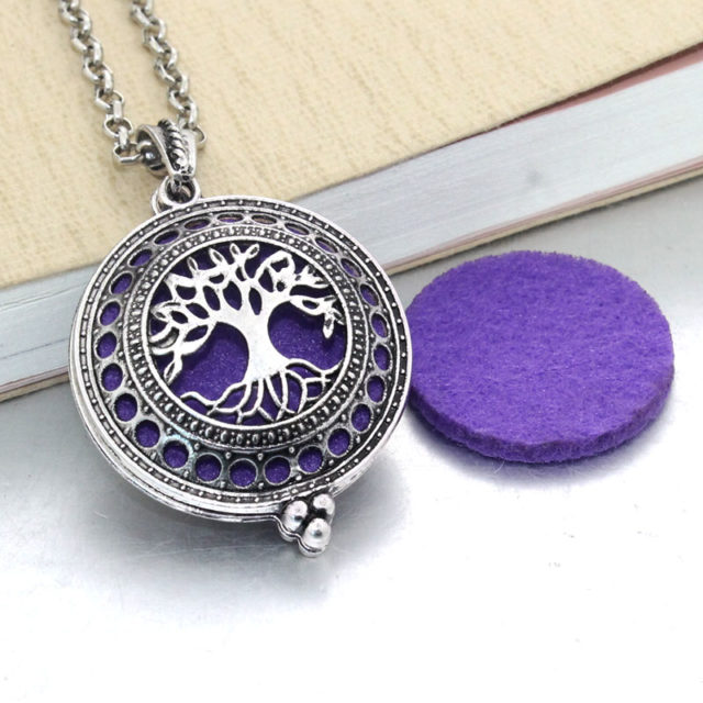 Aroma Essential Oil Diffuser Pendant Necklace