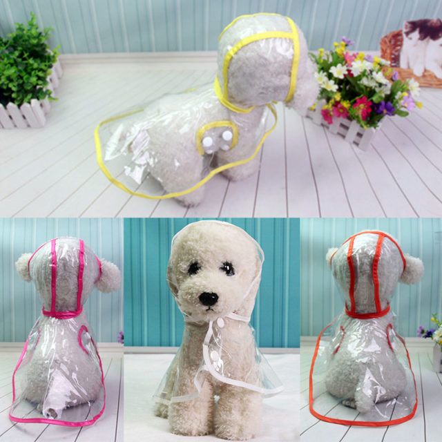 Waterproof Transparent Raincoats for Dog