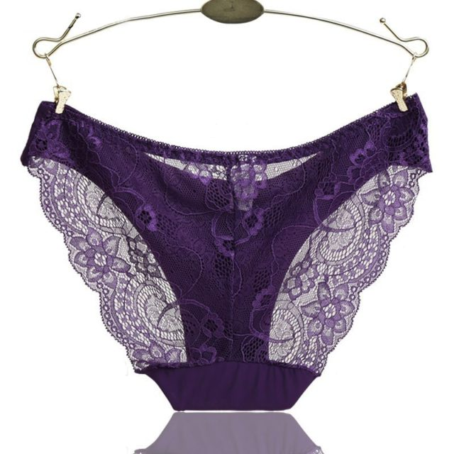 RE Ladies underwear woman panties fancy lace calcinha renda sexy panties for women traceless crotch of cotton briefs Lingerie